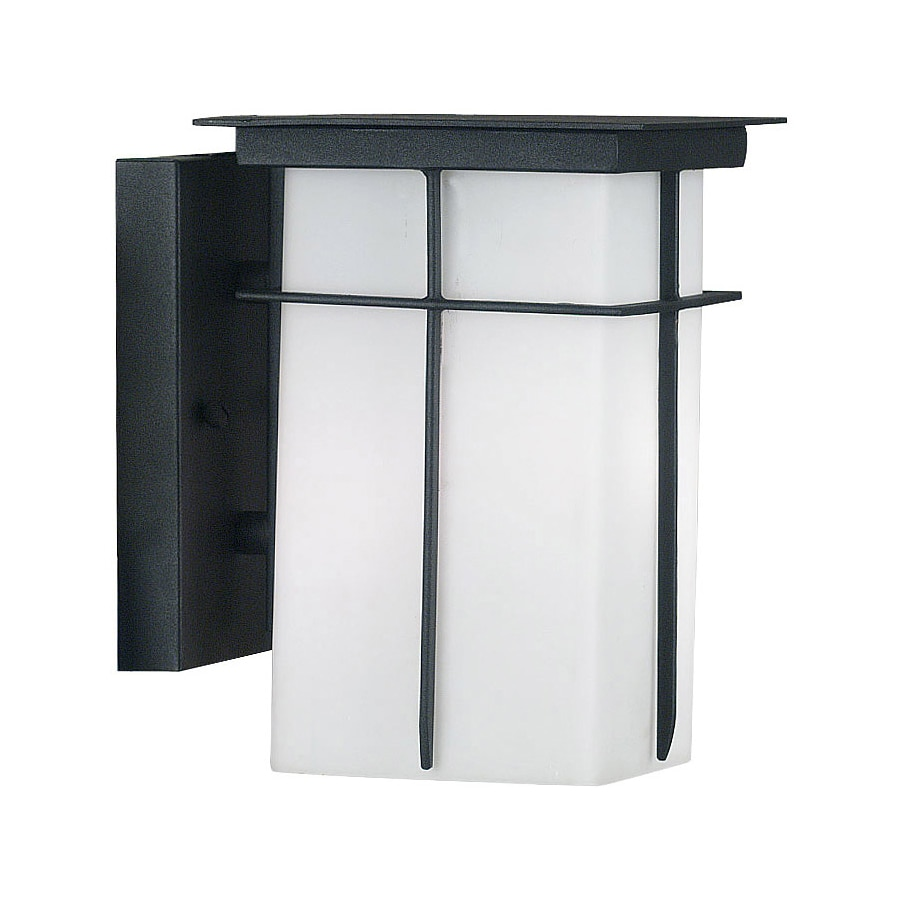 Kenroy Home Mesa 9-in H Textured Black Outdoor Wall Light ENERGY STAR