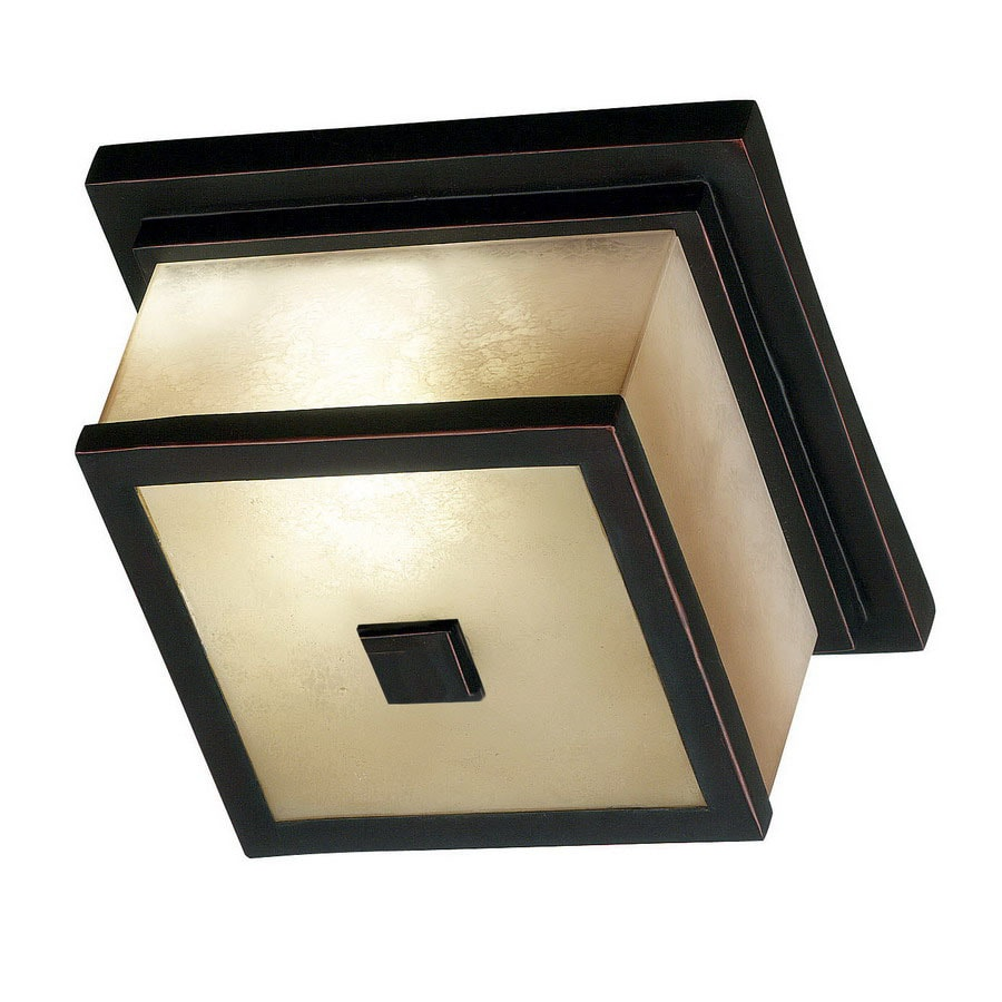 Kenroy Home Plateau 10-in W Oil Rubbed Bronze Outdoor Flush-Mount Light ENERGY STAR