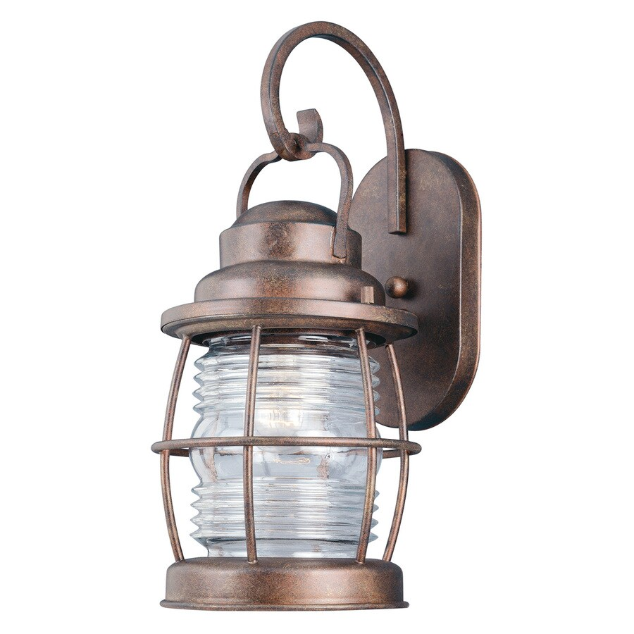 Kenroy Home Beacon 16-in H Gilded Copper Outdoor Wall Light