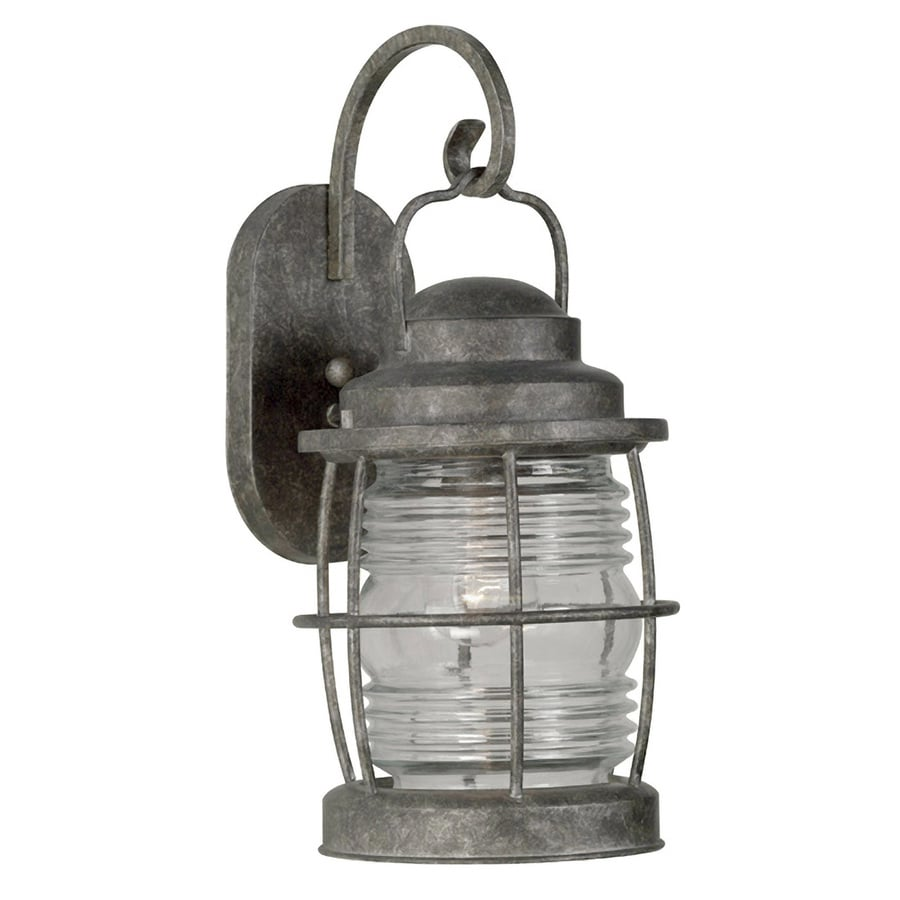 Kenroy Home Beacon 17.5-in H Flint Medium Base (E-26) Outdoor Wall Light