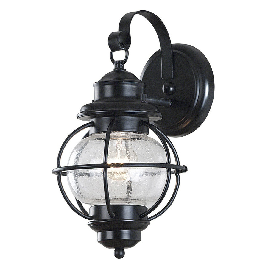 Kenroy Home Hatteras 14-in H Black Outdoor Wall Light