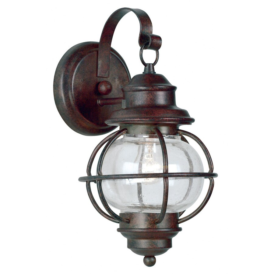 Kenroy Home Hatteras 14-in H Gilded Copper Outdoor Wall Light