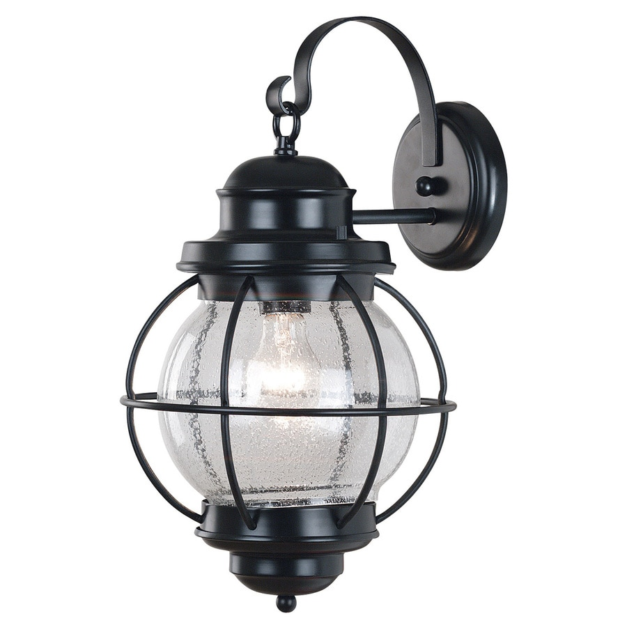 Kenroy Home Hatteras 17-in H Black Outdoor Wall Light