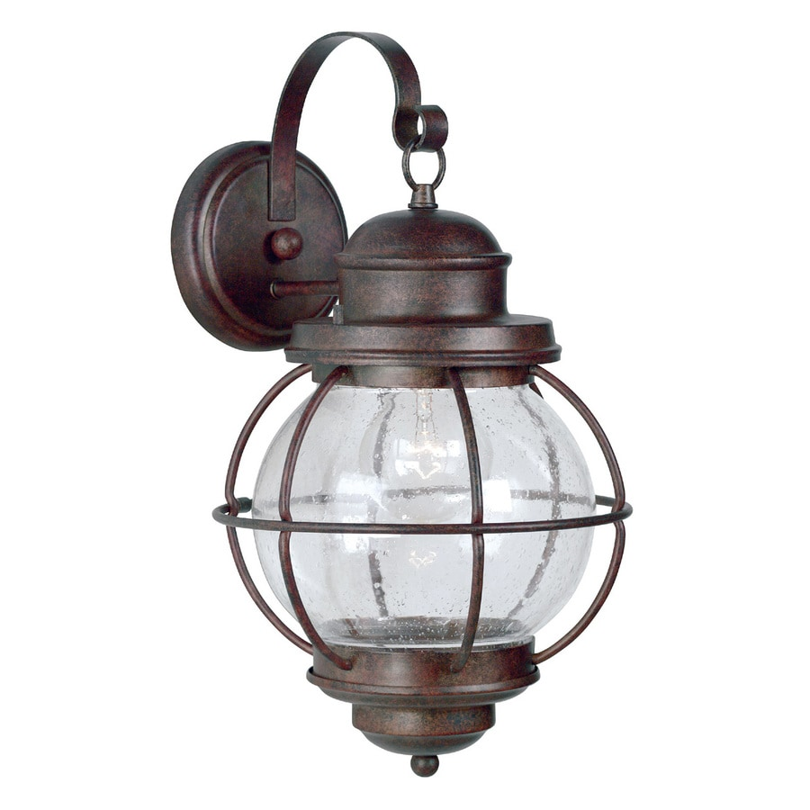 Copper Garden Wall Lights : Shop Kenroy Home Hatteras 17-in H Gilded Copper Outdoor Wall Light at Lowes.com
