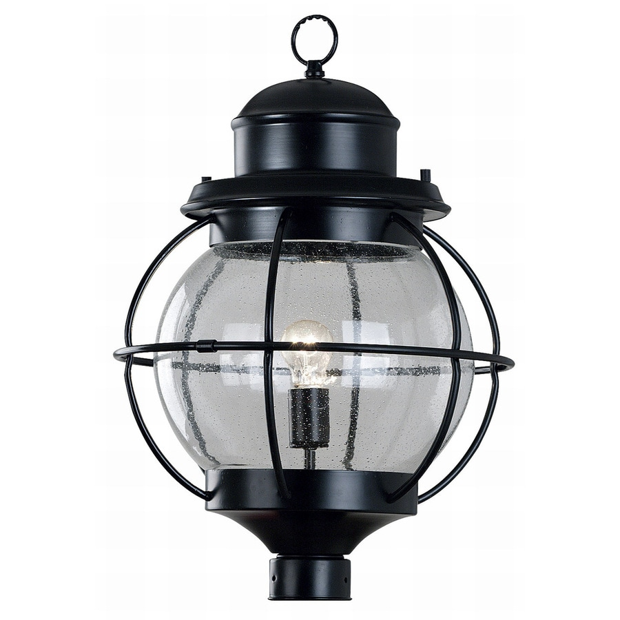 Kenroy Home Hatteras 23.86-in H Black Post Light
