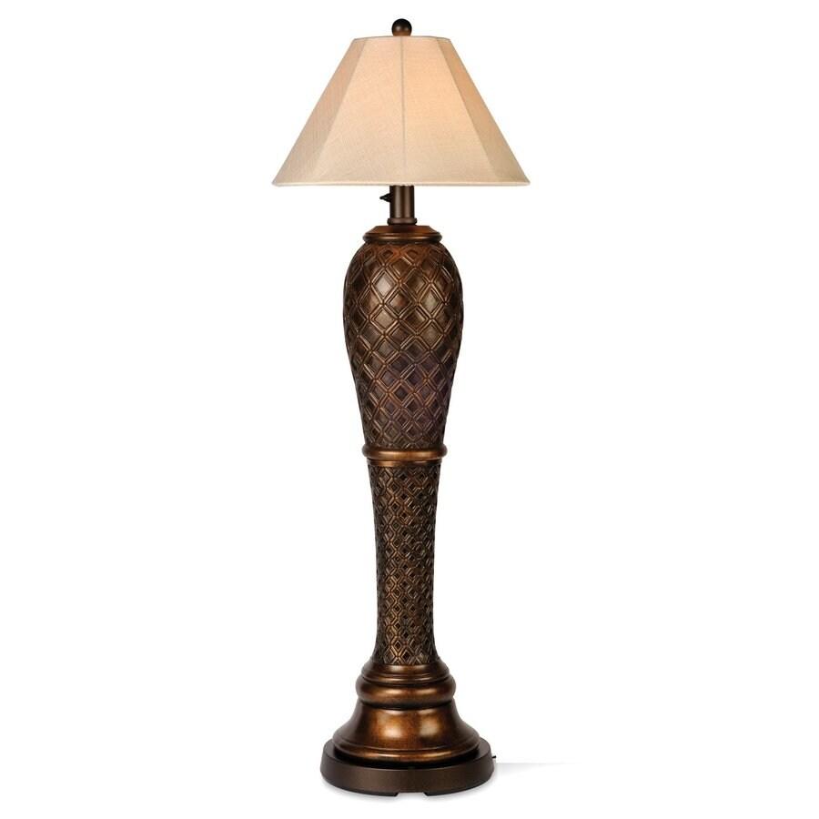 Patio Living Concepts Monterey 60-in Bronze Floor Lamp with Linen Shade