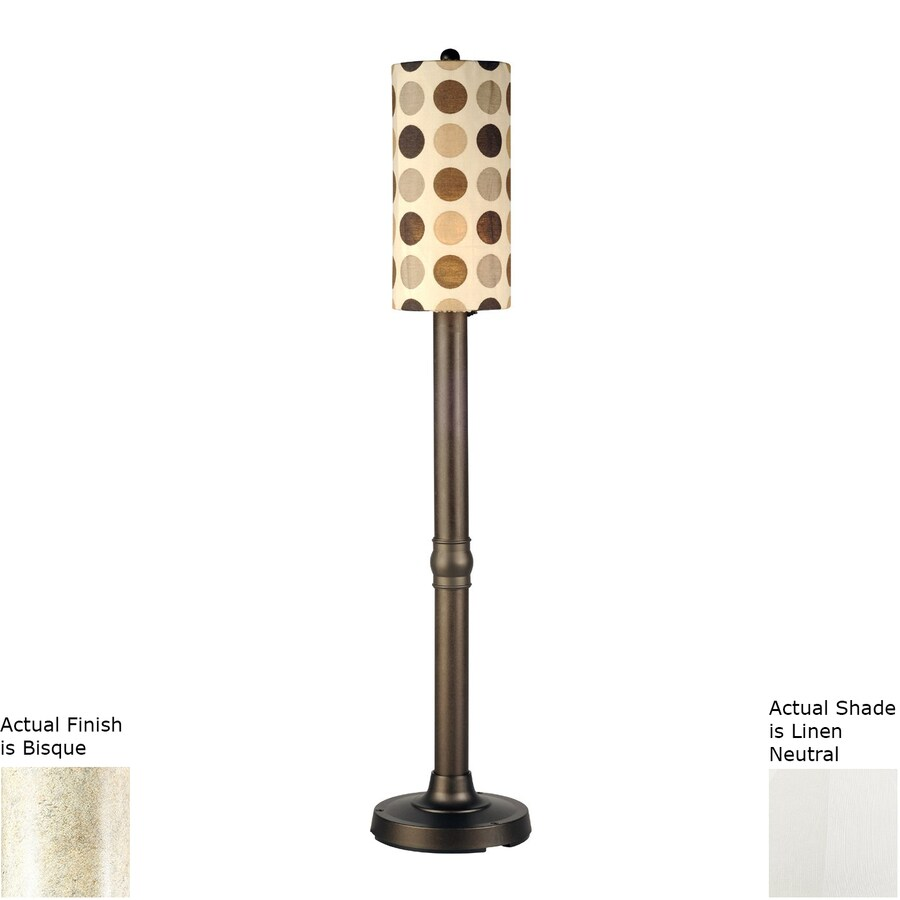 Patio Living Concepts Coronado 70-in Bisque Floor Lamp with Linen Shade