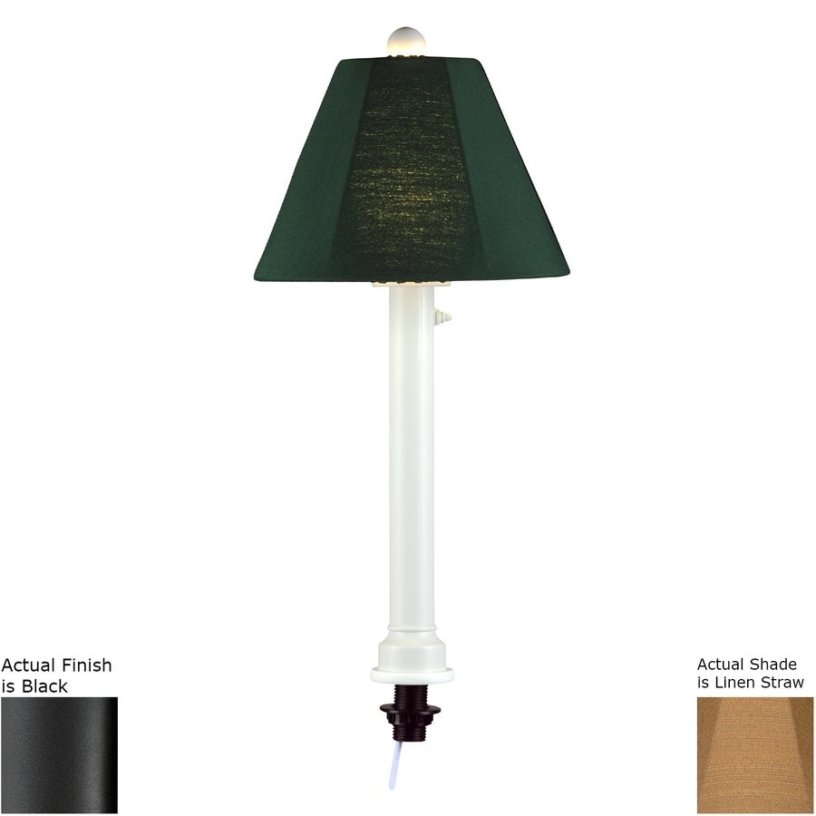 Patio Living Concepts 28-in Black Table Lamp with Fabric Shade