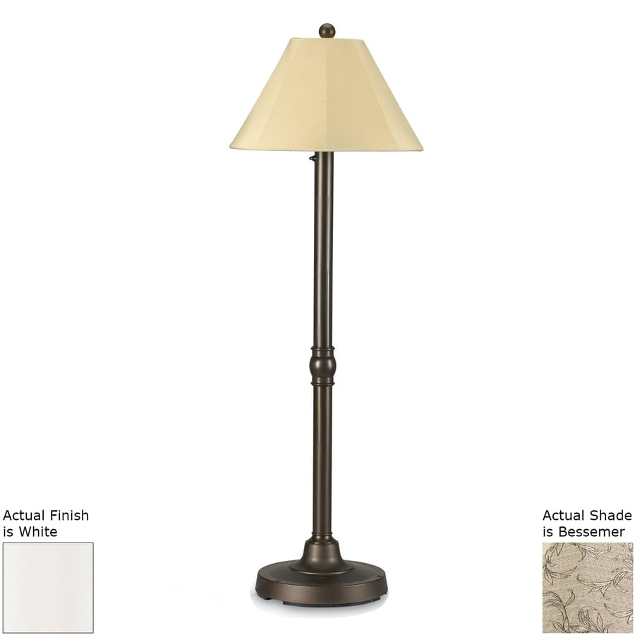 Patio Living Concepts San Juan 60-in White Floor Lamp with Fabric Shade