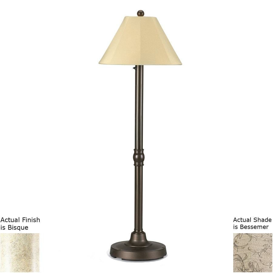 Patio Living Concepts San Juan 60-in Bisque Floor Lamp with Fabric Shade