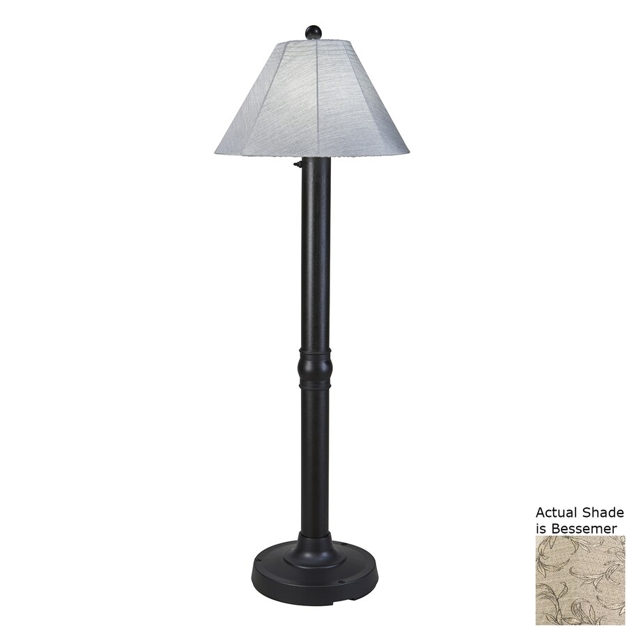 Patio Living Concepts Seaside 60-in Black Floor Lamp with Fabric Shade