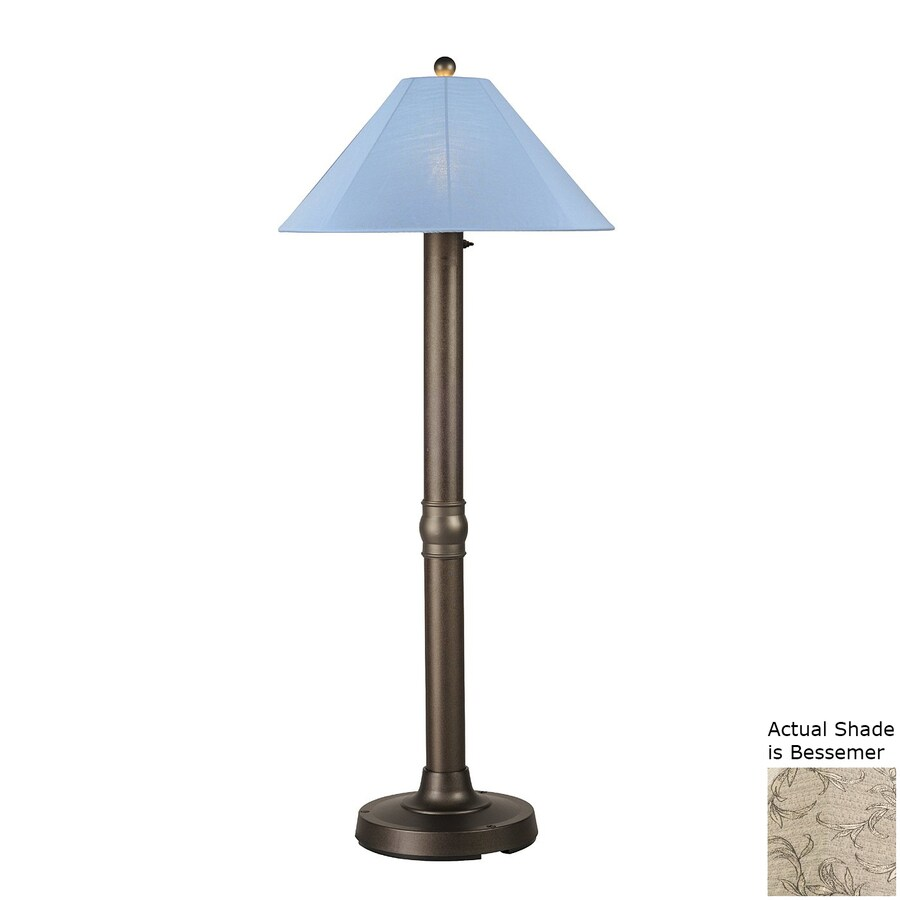 Patio Living Concepts Catalina Ii 62-in Bronze Floor Lamp with Fabric Shade