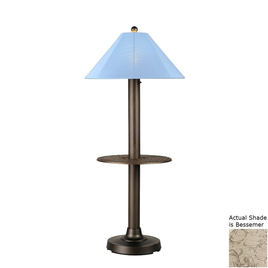 Patio Living Concepts Catalina Ii 63.5-in Bronze Built-in Table Floor Lamp with Fabric Shade