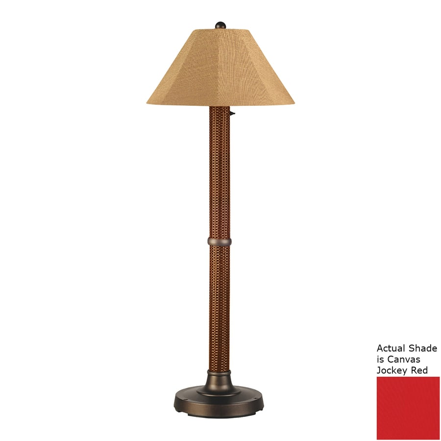 Patio Living Concepts Bahama 60-in Red Castagno Floor Lamp with Fabric Shade