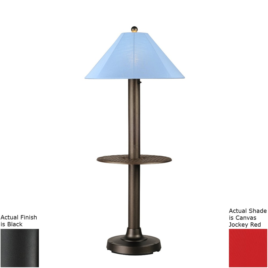 Patio Living Concepts Catalina Ii 63.5 In Black Built In Table Floor Lamp  With