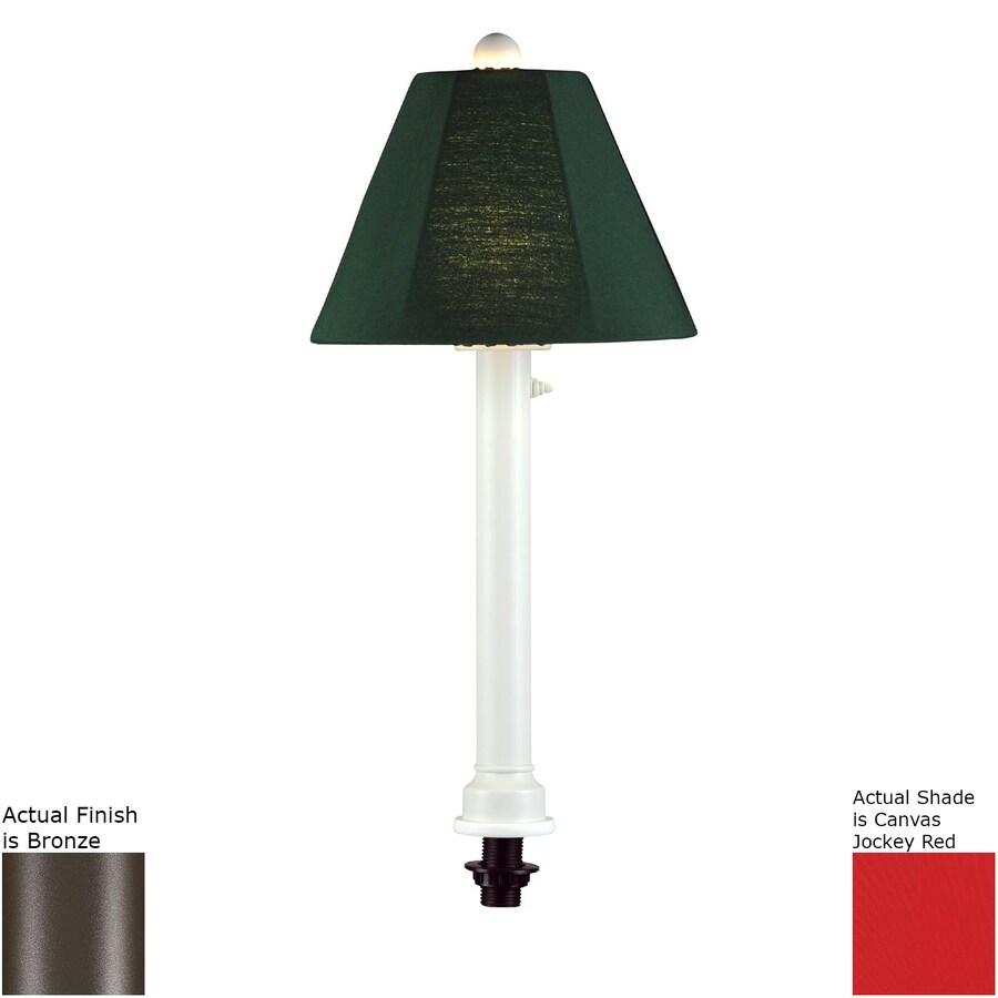 Patio Living Concepts 28-in Bronze Table Lamp with Fabric Shade