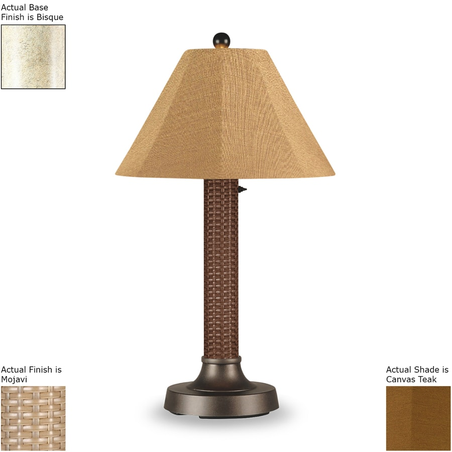 Patio Living Concepts Bahama Weave 34-in Mojavi/bisque Electrical Outlet Table Lamp with Fabric Shade