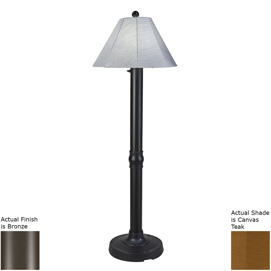 Patio Living Concepts Seaside 60-in Bronze Floor Lamp with Fabric Shade