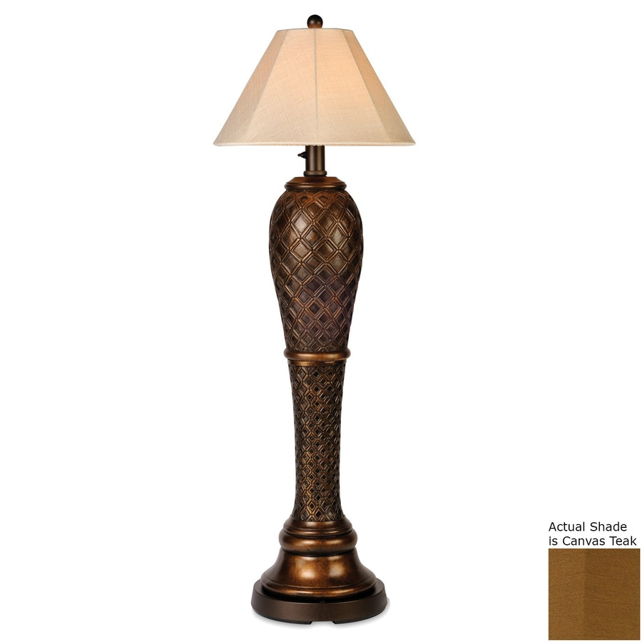 Patio Living Concepts Monterey 60-in Bronze Floor Lamp with Fabric Shade