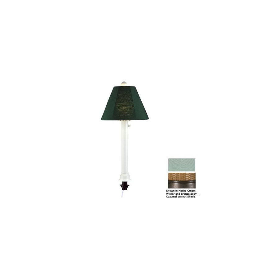 Patio Living Concepts 28-in Bronze Outdoor Table Lamp with Fabric Shade