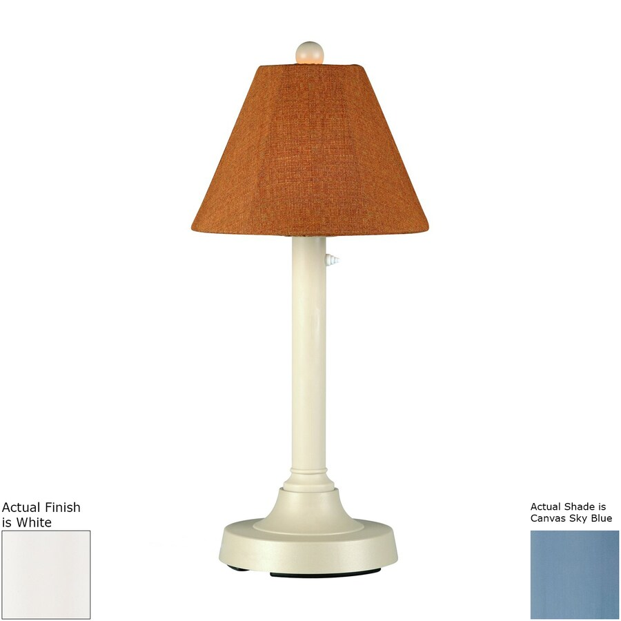 Patio Living Concepts San Juan 30-in White Electrical Outlet Table Lamp with Fabric Shade