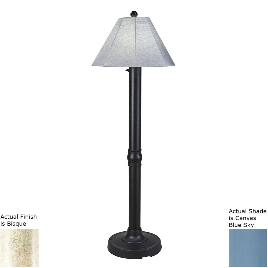 Patio Living Concepts Seaside 60-in Bisque Floor Lamp with Fabric Shade