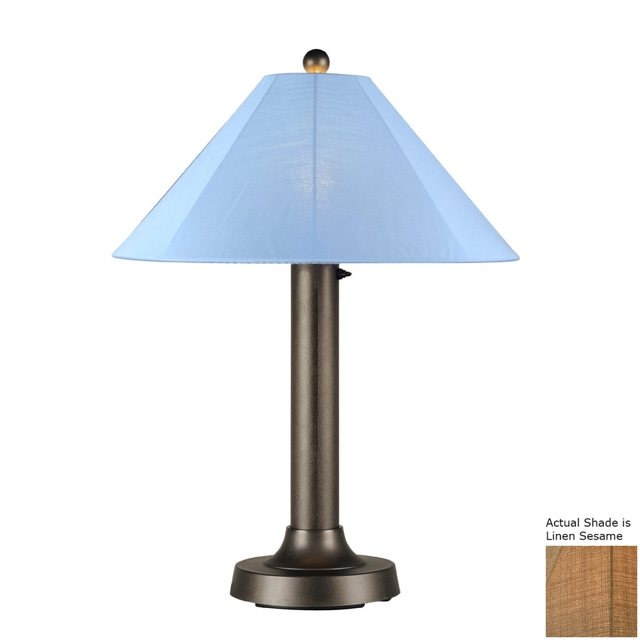 Patio Living Concepts Catalina 34-in Bronze Electrical Outlet Table Lamp with Fabric Shade
