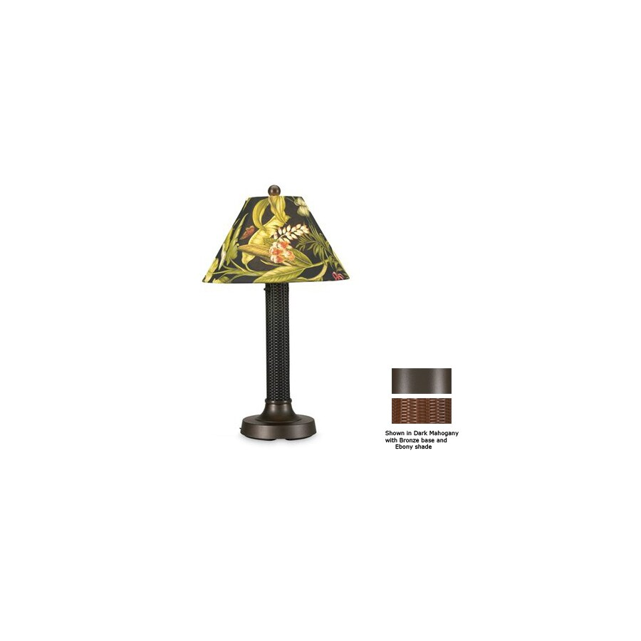 Patio Living Concepts 24-in Bronze Outdoor Table Lamp with Fabric Shade