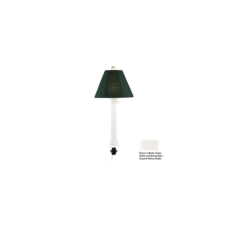Patio Living Concepts 28-in White Outdoor Table Lamp with Fabric Shade