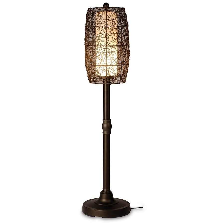 Patio Living Concepts Bristol 58-in Bronze Floor Lamp with Plastic Shade
