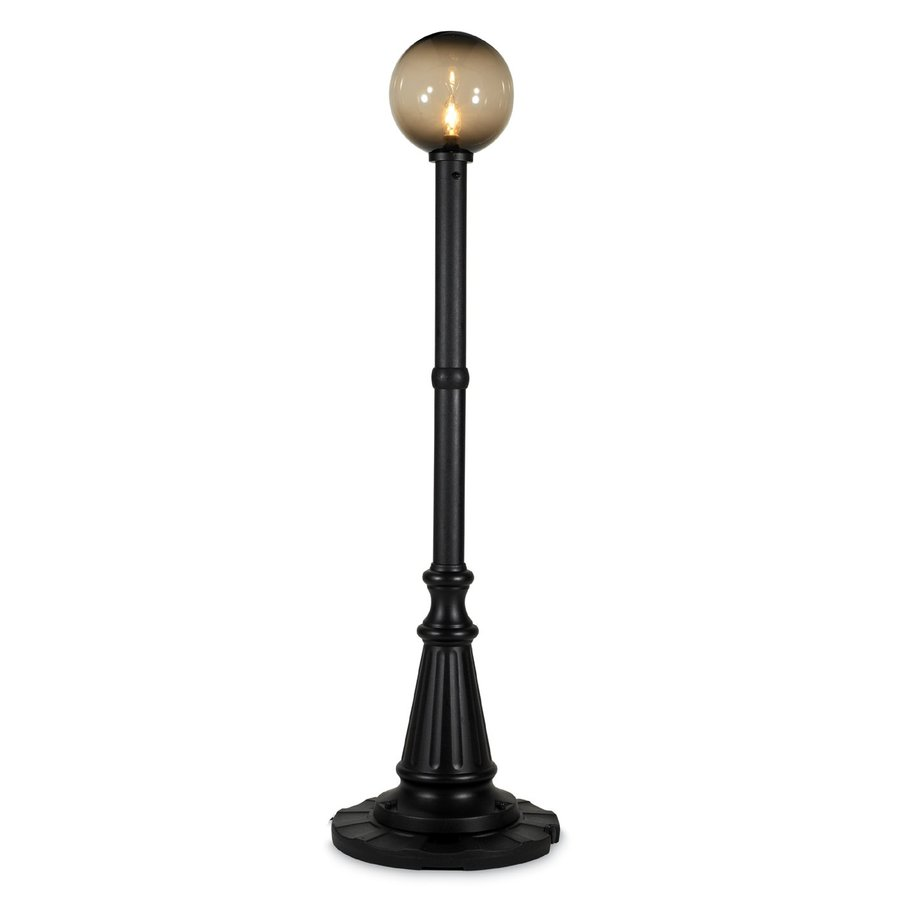 Patio Living Concepts Milano 82-in Black Floor Lamp with Acrylic Shade