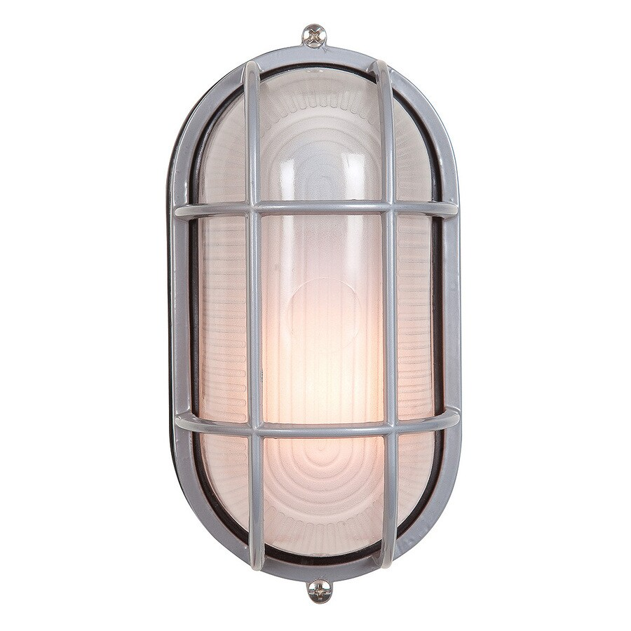 Access Lighting Nauticus 4.5-in H Satin Outdoor Wall Light ENERGY STAR