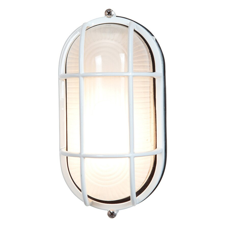 Access Lighting Nauticus 11-in H White Medium Base (E-26) Outdoor Wall Light