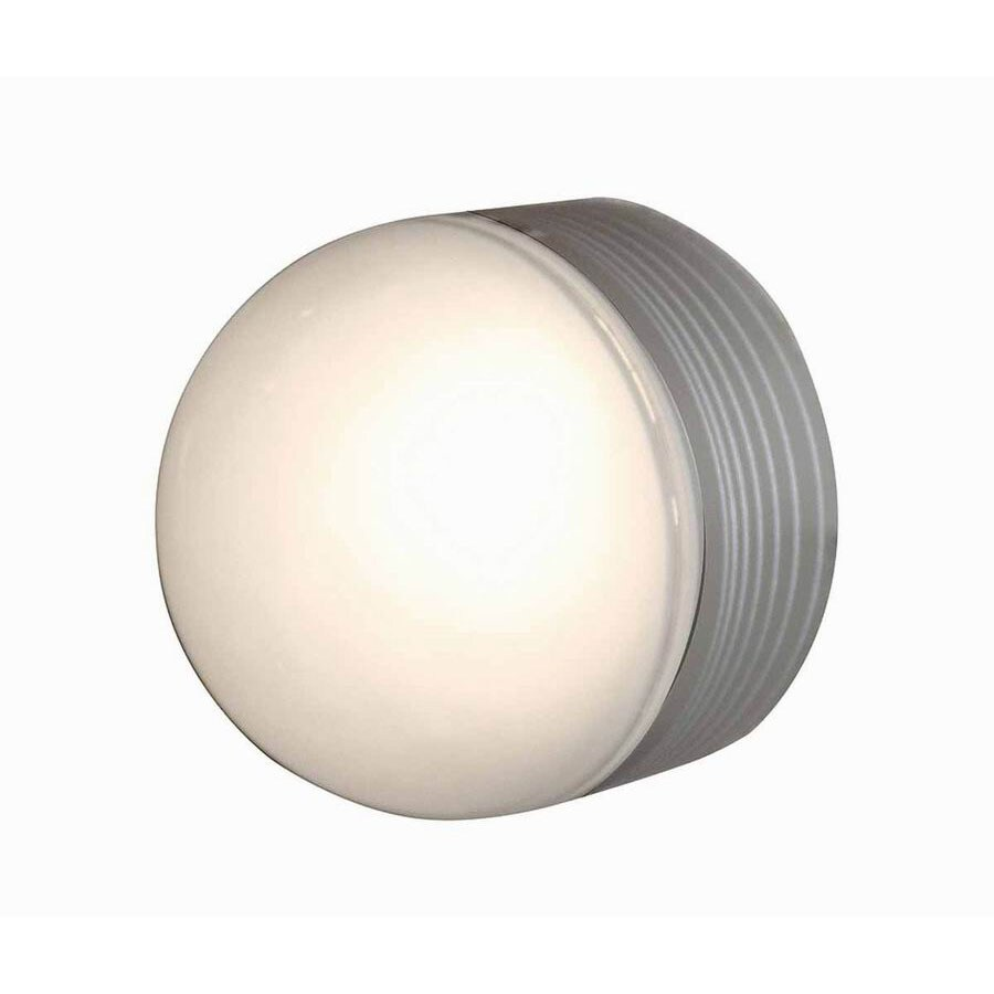 Access Lighting Micromoon 5-in W Satin Outdoor Flush-Mount Light