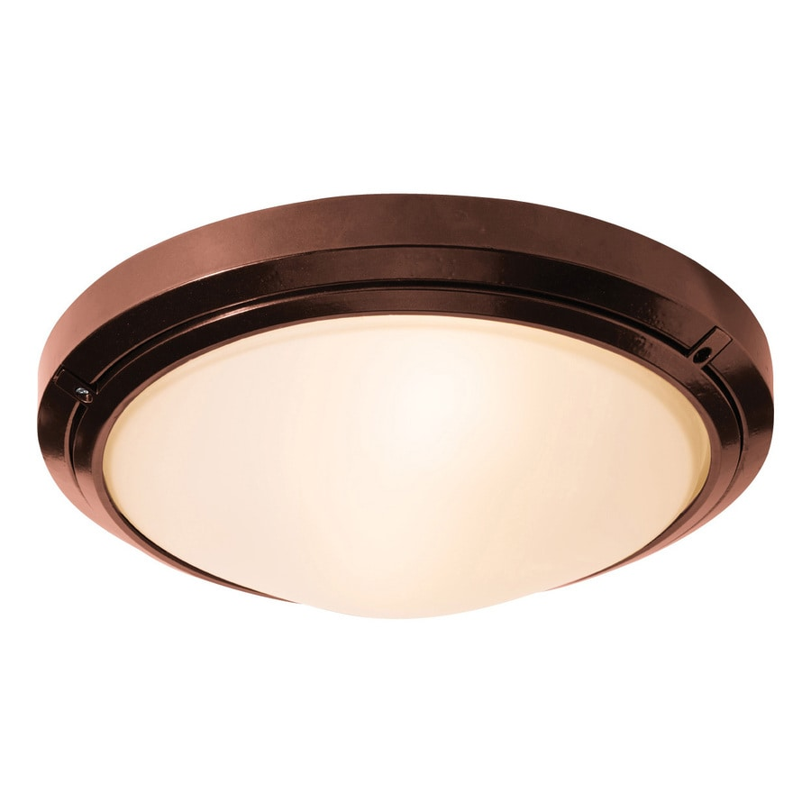Access Lighting Oceanus 15.75-in W Bronze Outdoor Flush-Mount Light