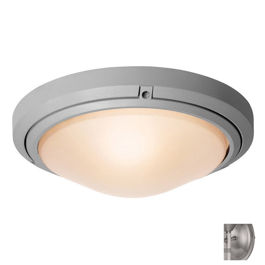Access Lighting Oceanus 15.75-in W Satin Outdoor Flush-Mount Light
