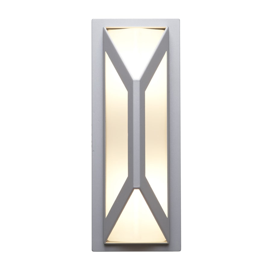 Access Lighting Nyami 16.25-in H Satin Medium Base (E-26) Outdoor Wall Light