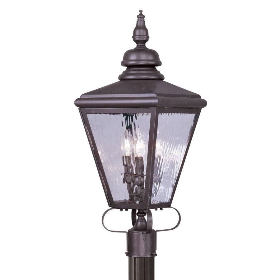Livex Lighting Cambridge 28.5-in H Bronze Post Light