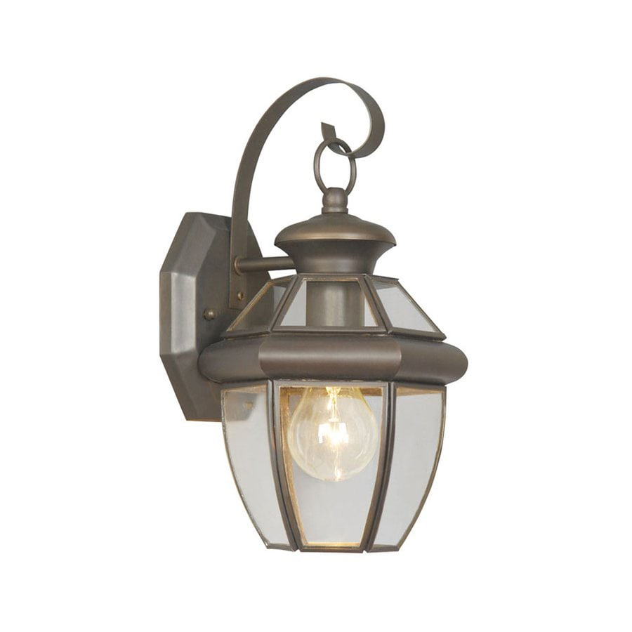 Livex Lighting Monterey 12.5-in H Bronze Outdoor Wall Light