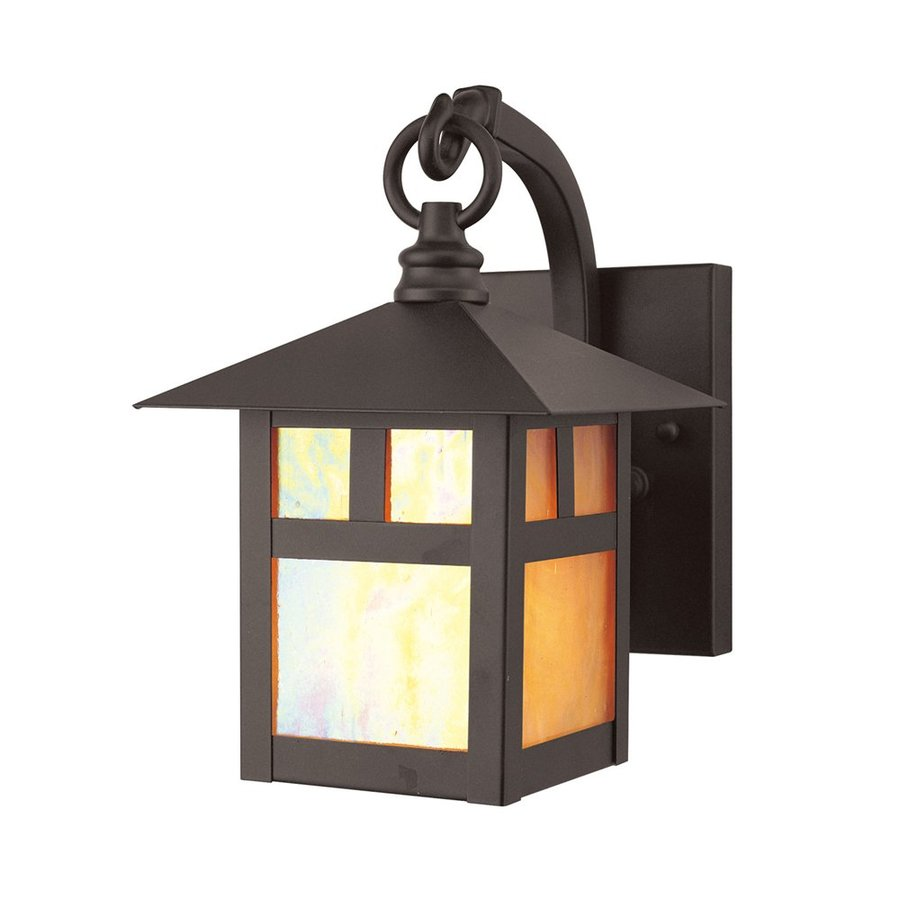 Livex Lighting Montclair Mission 8.5-in H Bronze Outdoor Wall Light
