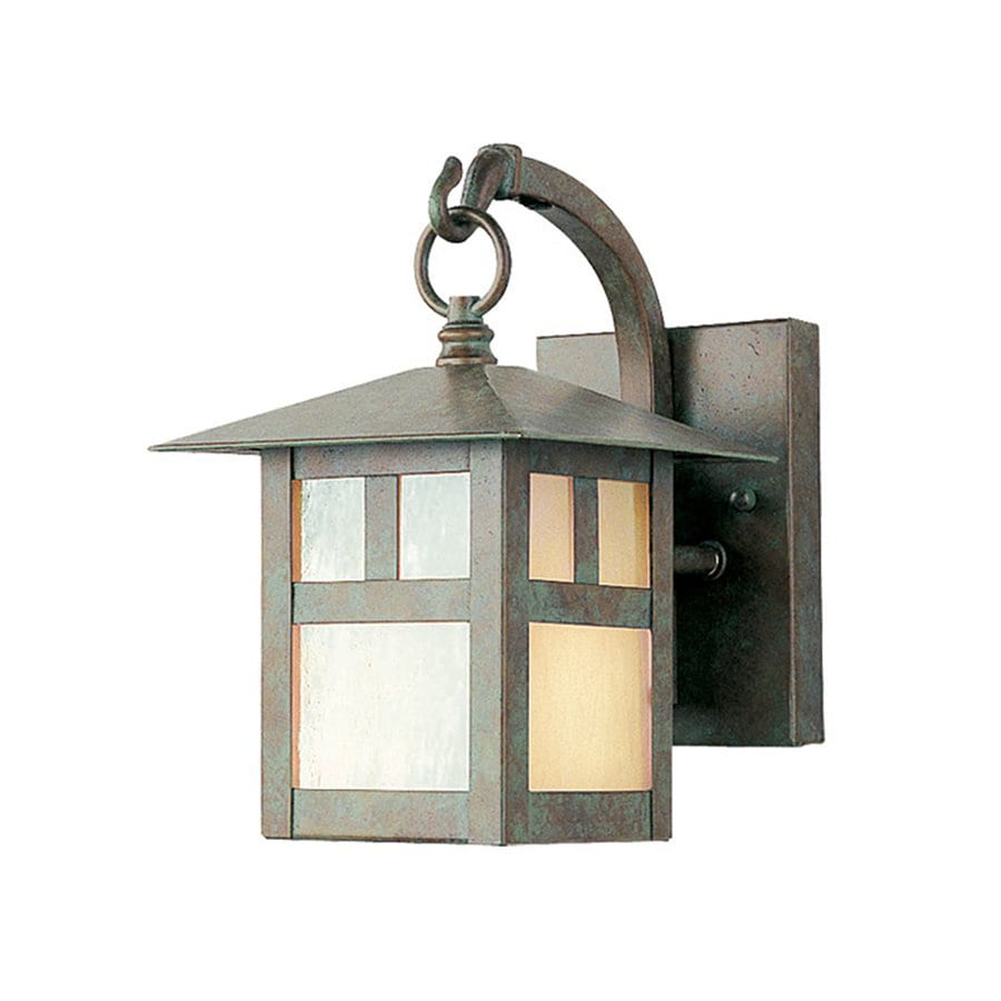 Livex Lighting Montclair Mission 8.5-in H Verde Patina Medium Base (E-26) Outdoor Wall Light