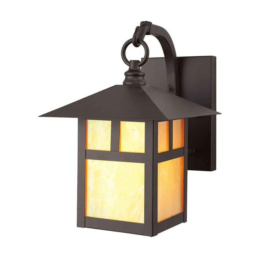 Livex Lighting Montclair Mission 10.75-in H Bronze Medium Base (E-26) Outdoor Wall Light