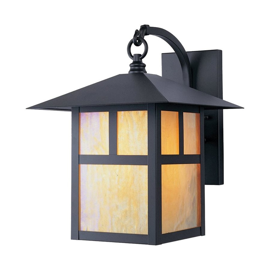 Livex Lighting Montclair Mission 13.75-in H Bronze Medium Base (E-26) Outdoor Wall Light