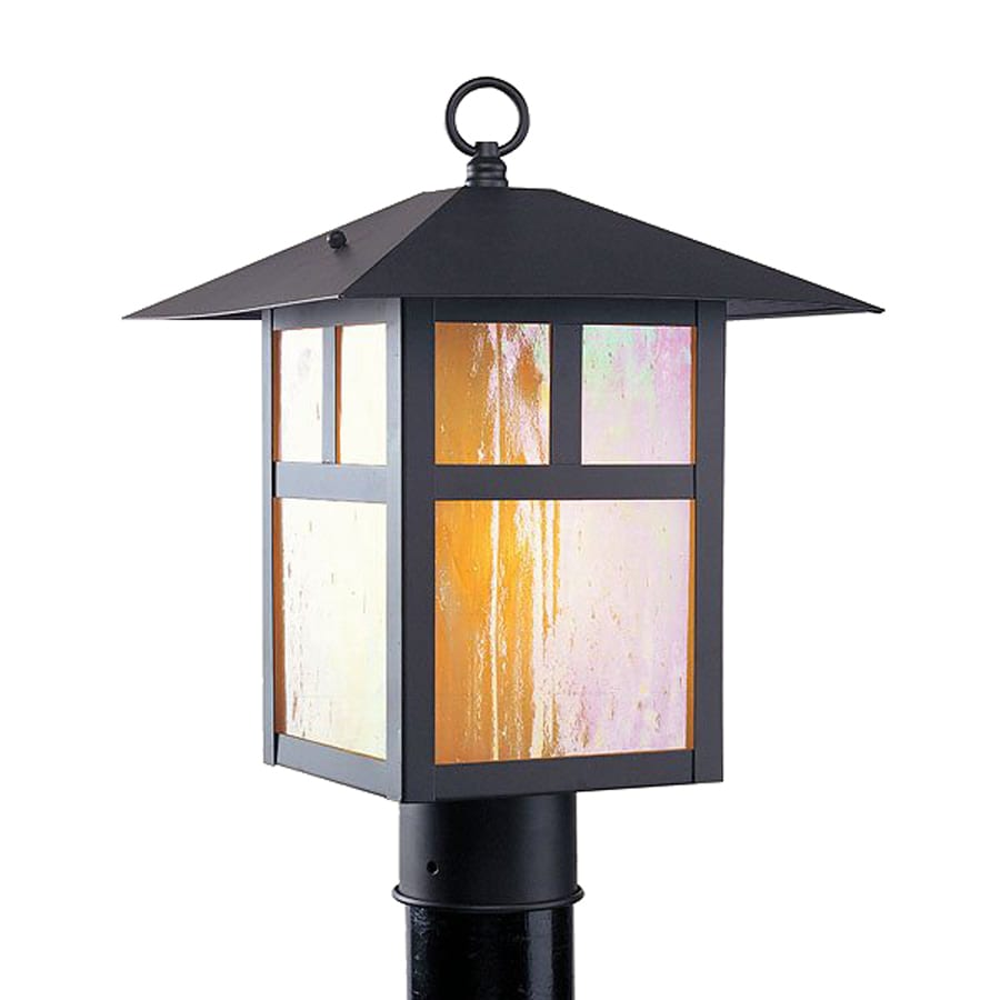 Livex Lighting Montclaire Mission 15-in H Bronze Post Light