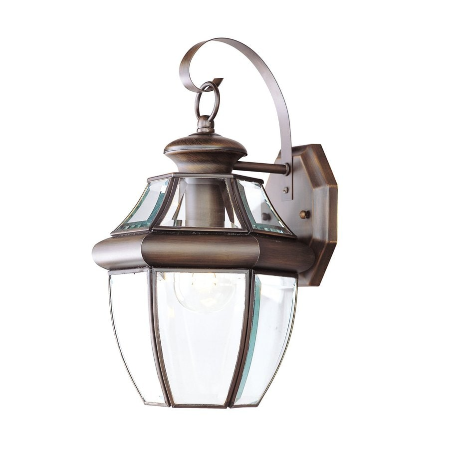 Shop Livex Lighting Monterey 13 In H Imperial Bronze Outdoor Wall Light At Lo