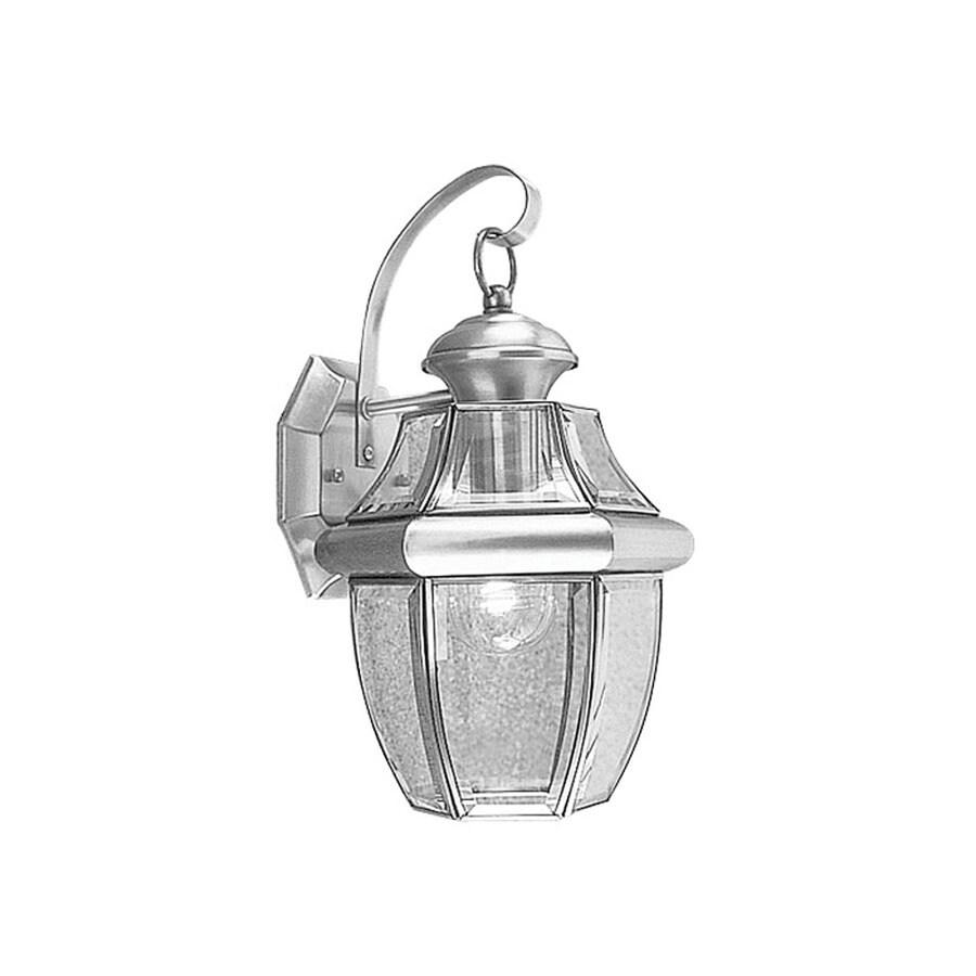 Livex Lighting Monterey 13-in H Brushed Nickel Medium Base (E-26) Outdoor Wall Light
