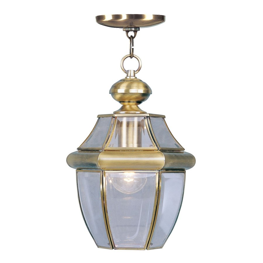 Antique Outdoor Pendant Lighting : Livex lighting monterey in antique brass