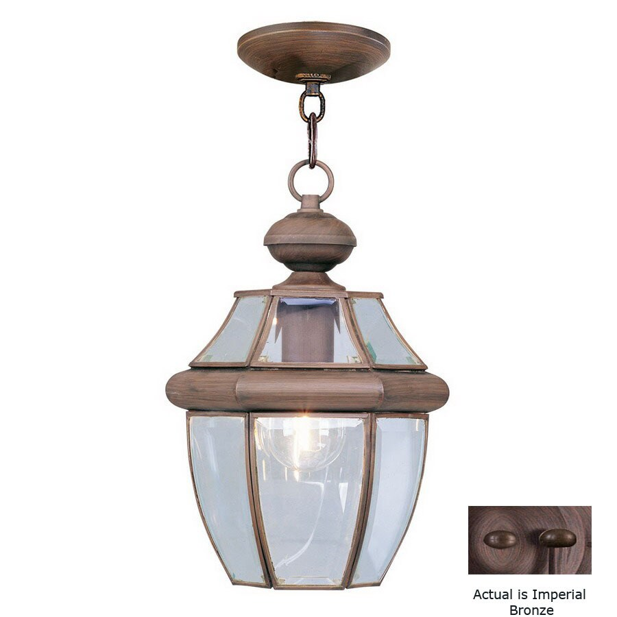 Livex Lighting Monterey 12.75-in H Bronze Outdoor Pendant Light