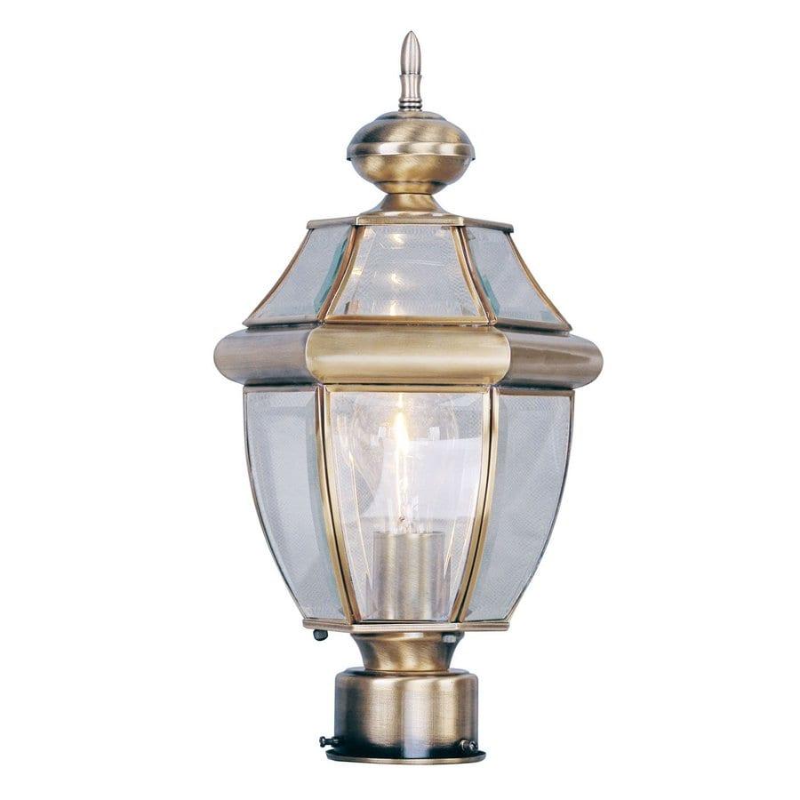 Livex Lighting Monterey 15.75-in H Antique Brass Post Light