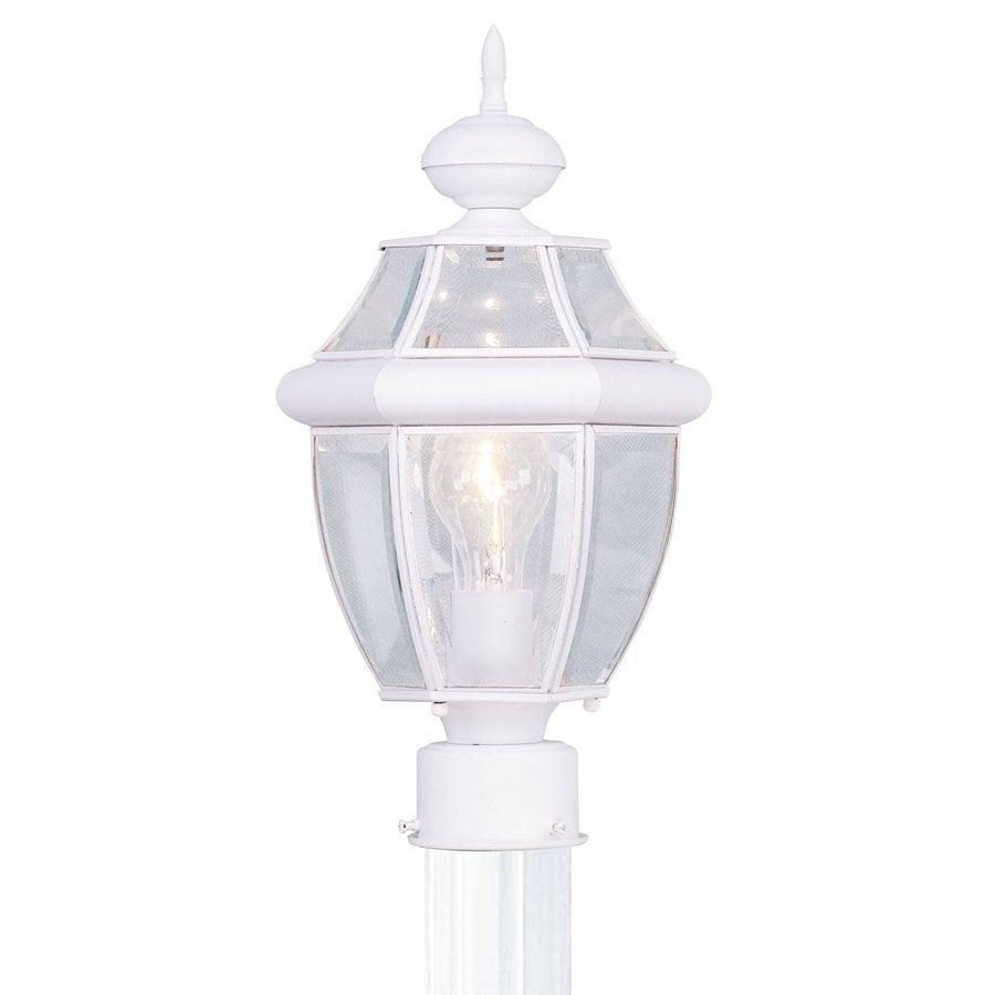 Livex Lighting Monterey 15.75-in H White Post Light